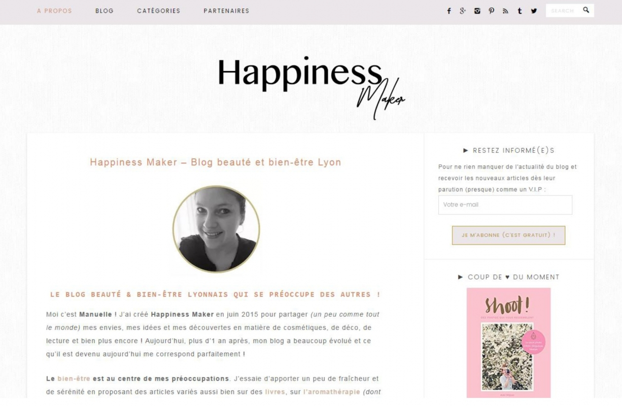 "Manuelle, blogueuse ""Happiness Maker"""